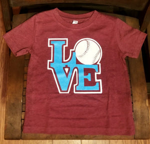 LOVE Baseball Toddler Tee