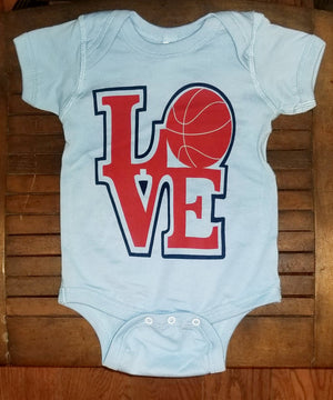 LOVE Basketball Baby Onesie
