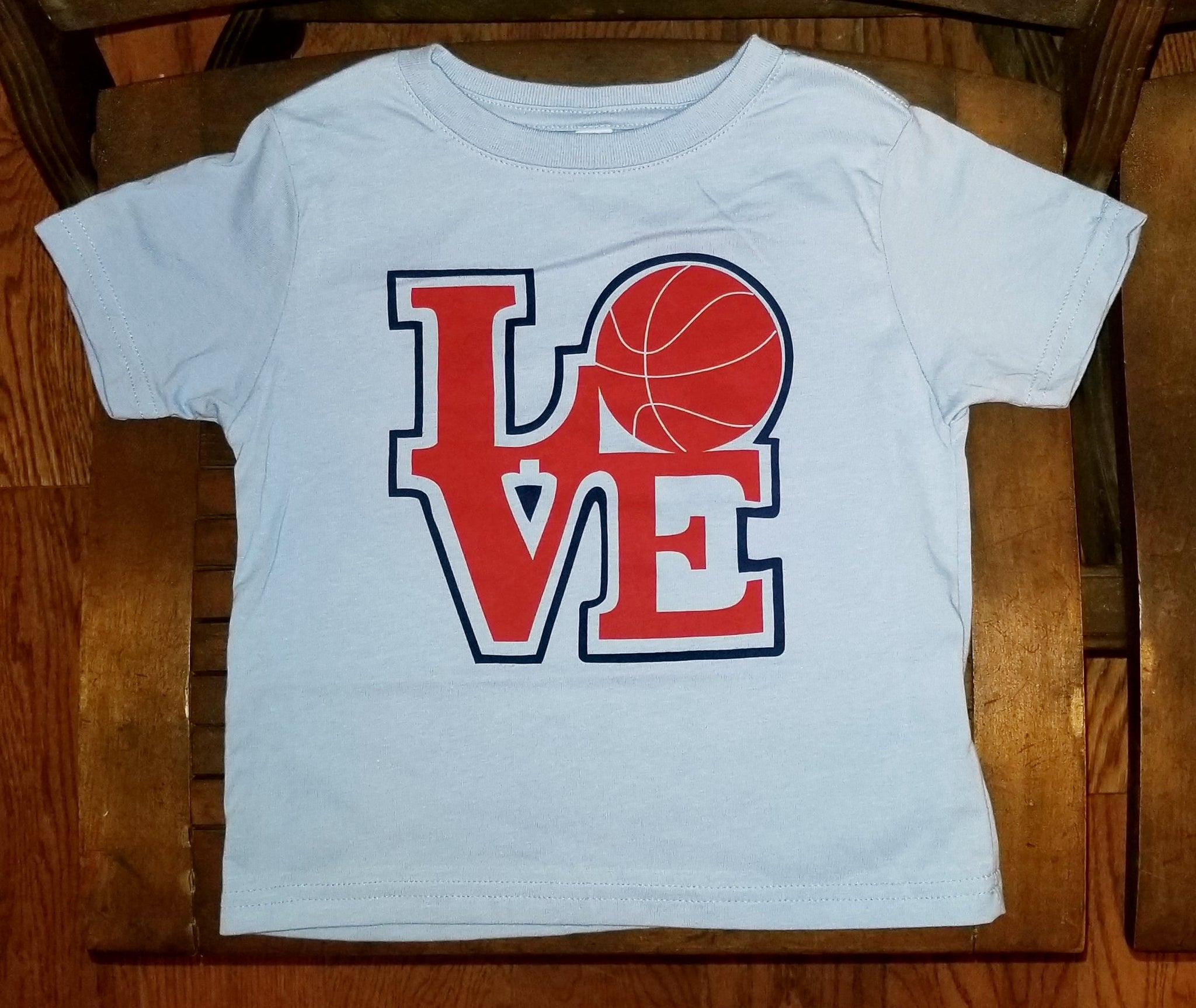bce7bc76c2b0 LOVE Basketball Kids Toddler T-Shirt - Shibe Vintage Sports