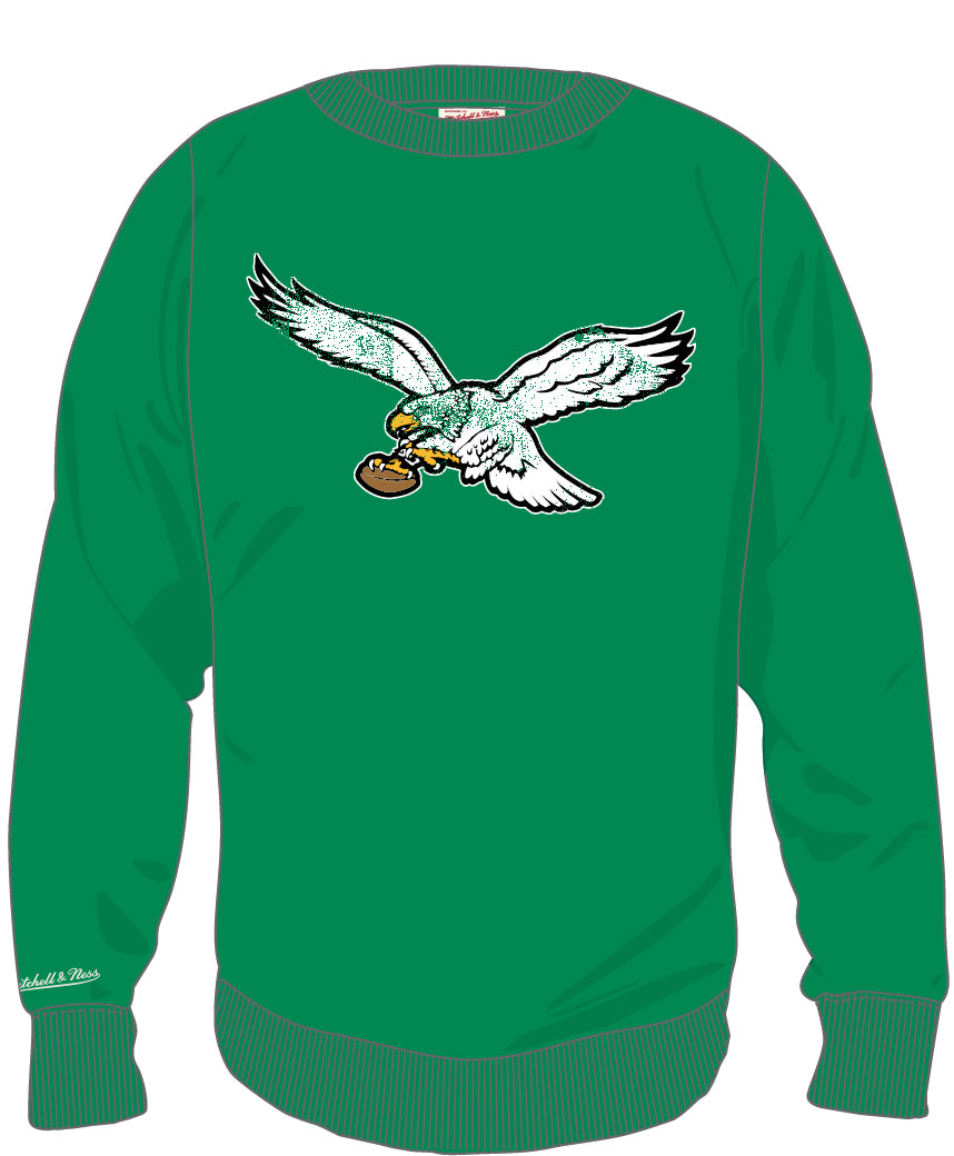 b33e239e284 Philadelphia Eagles Fleece Crew Neck Sweatshirt