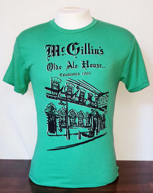 McGillin's Olde Ale House green t-shirt