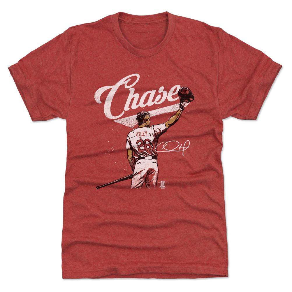 Chase Utley officially licensed red t-shirt