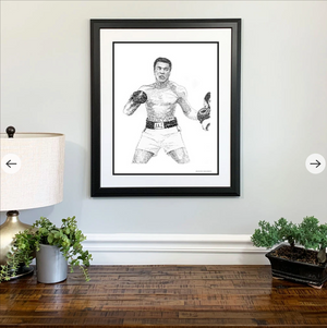 Muhammad Ali Print by Philly Word Art