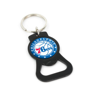 76ers (Black) Bottle Opener Keychain