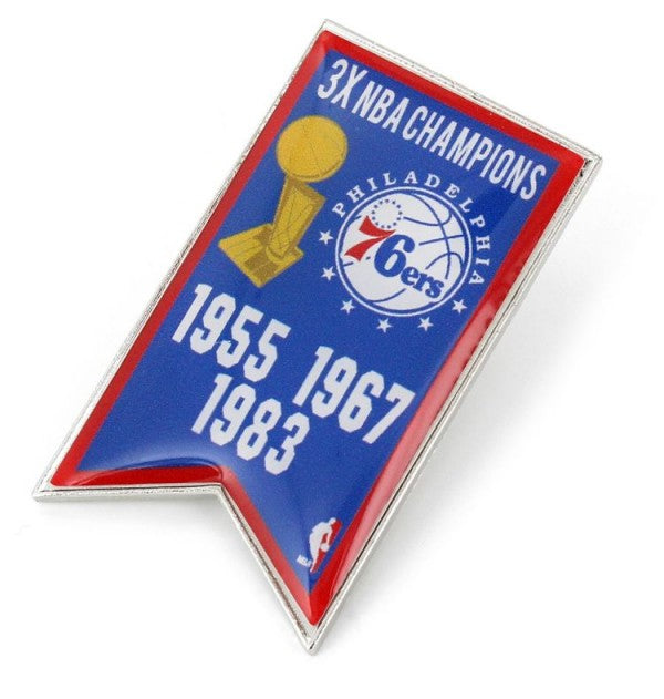 76ers Championship Banner Pin