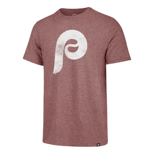 Philadelphia Phillies Men's Cardinal Throwback Match Tri-Blend tee