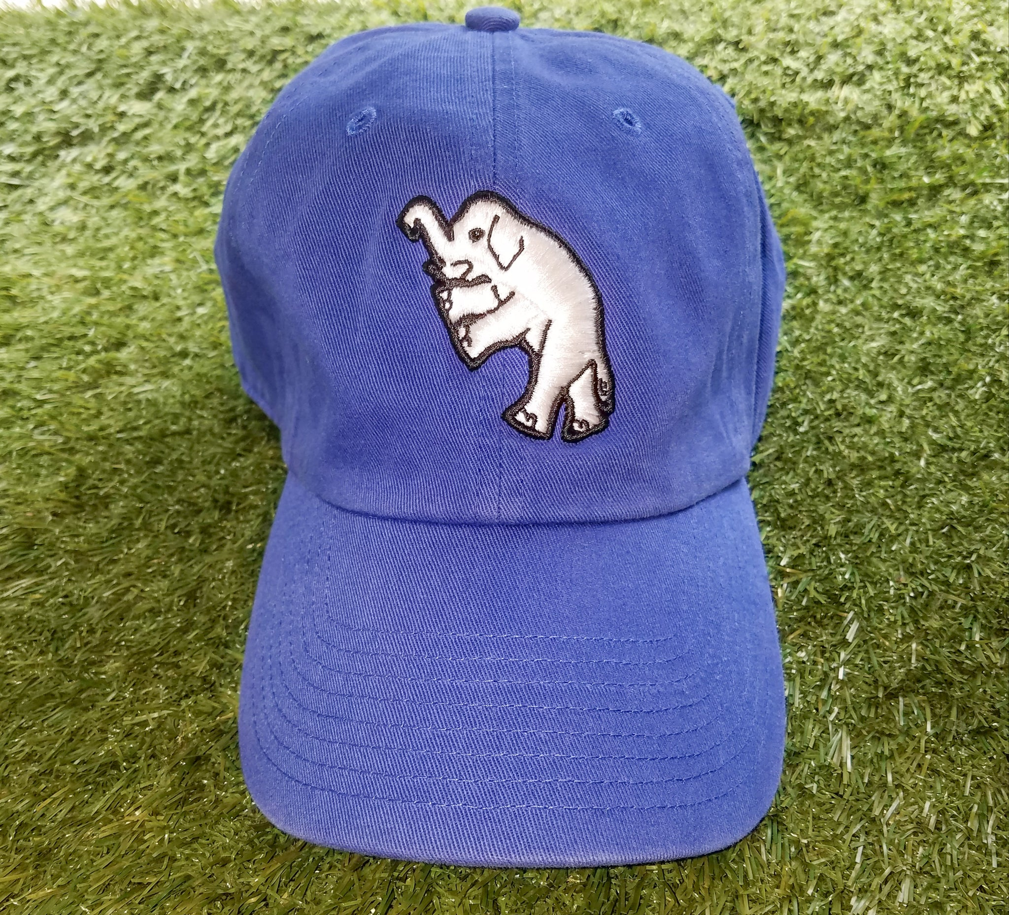 new product 09d8f af1d7 Philadelphia Athletics Elephant Adjustable Royal Blue Cap