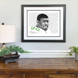 "Philadelphia Eagles Reggie White Print ""The Minister of Defense"" by Philly Word Art"
