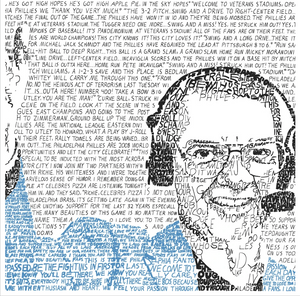 Harry Kalas Greatest Calls & Hall of Fame Speech Print by Philly Word Art