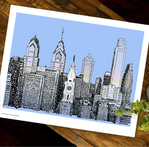 Streets of Philadelphia Print by Philly Word Art
