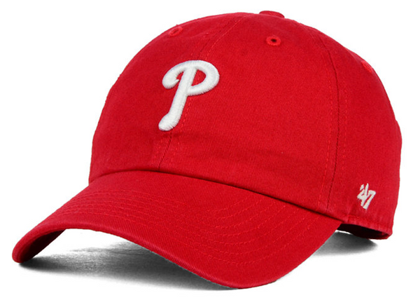"Philadelphia Phillies ""Clean Up"" Kids Adjustable Red cap"