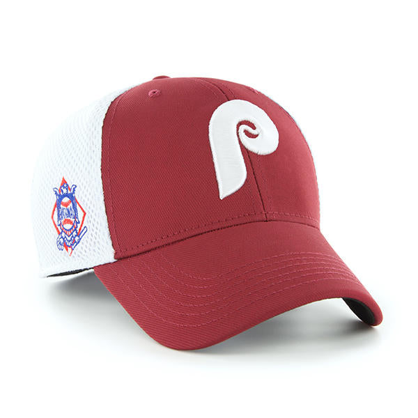 61aa687c2 Philadelphia Phillies Back Pedal Contender Trucker Hat with Vintage Logo