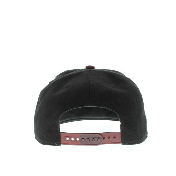 "Phillies ""Sure Shot"" 2-Tone Black and Maroon Snapback hat"