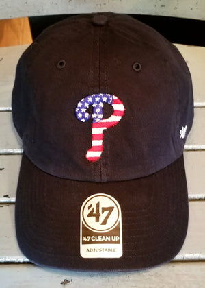 Philadelphia Phillies Spangled Banner Navy Clean Up Hat