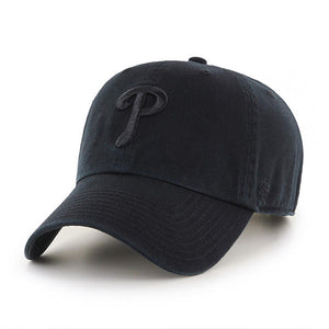 "Philadelphia Phillies ""Clean Up"" Adjustable Black On Black Hat"