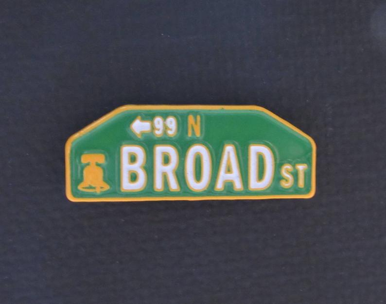 Broad St. pin