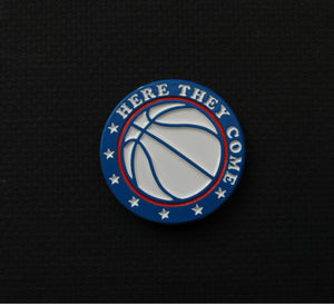 76ers Here They Come pin