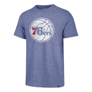 Philadelphia 76ers Royal Distressed Imprint Blue Tee
