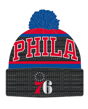 Mitchell and Ness Sixers Winter Pom Hat