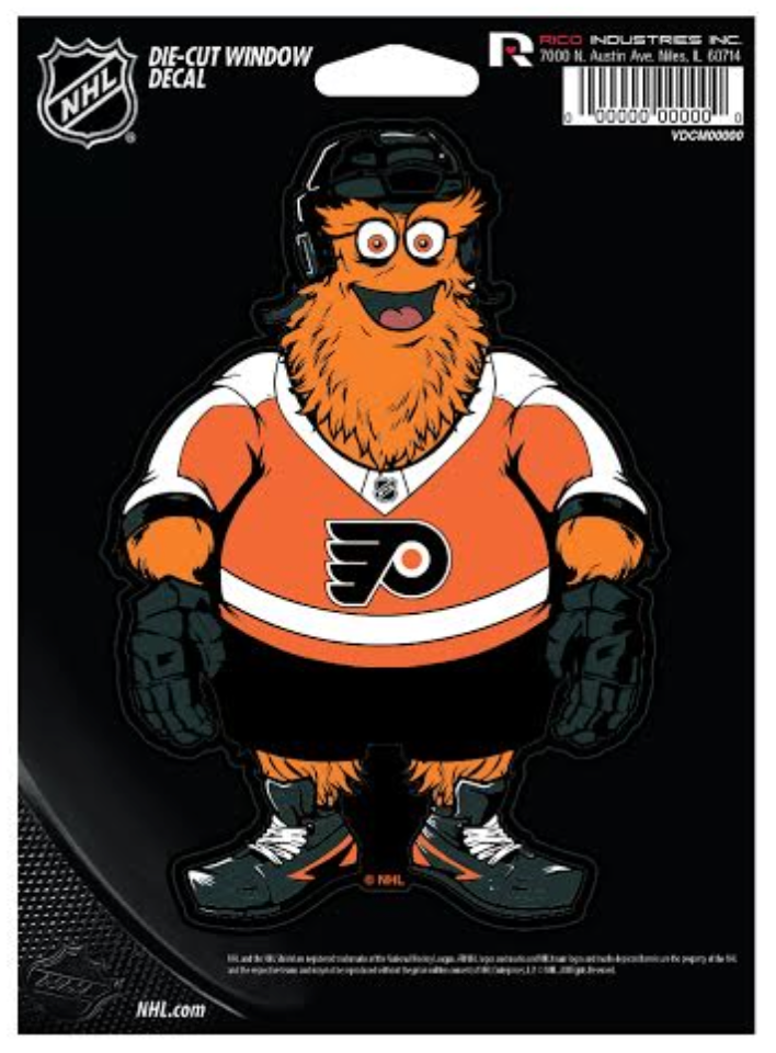 Philadelphia Flyers Gritty Die Cut Window Decal