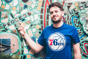 Philadelphia 76ers Blue Ball Logo Club Tee