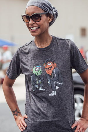 Gritty and Phanatic Charcoal Tee