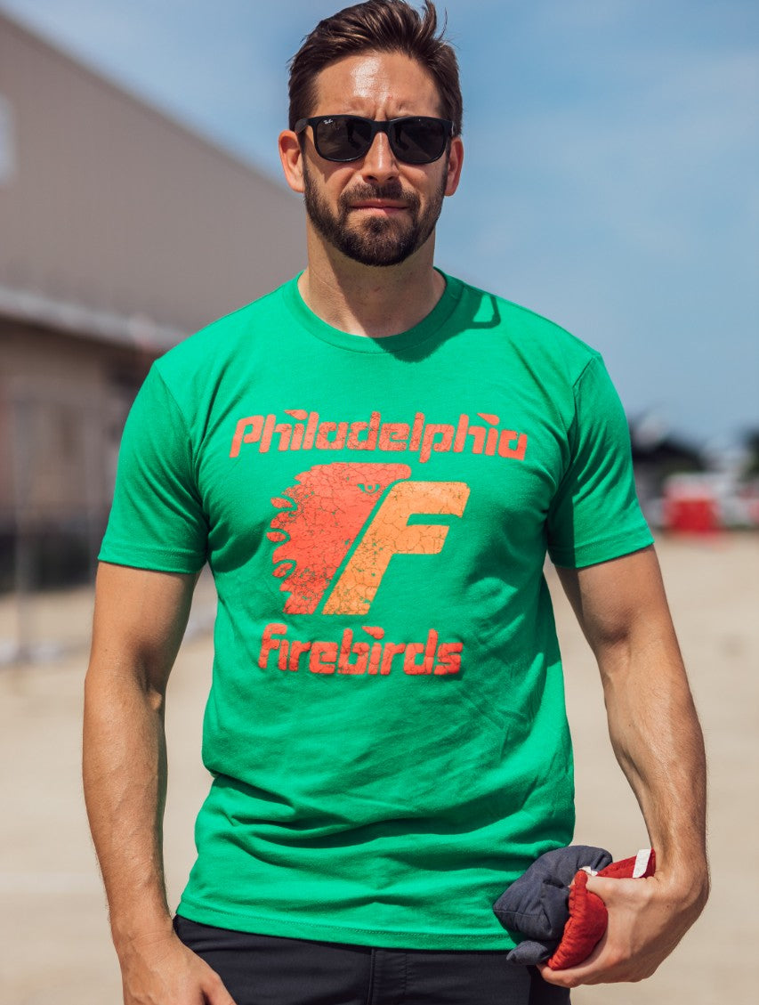 Philadelphia Firebirds soft green t-shirt