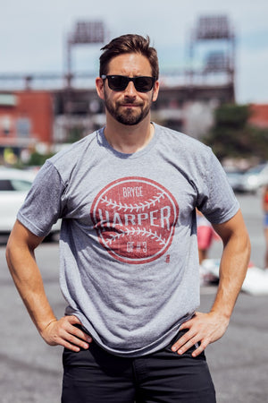 Bryce Harper Philadelphia Ball Grey Tee