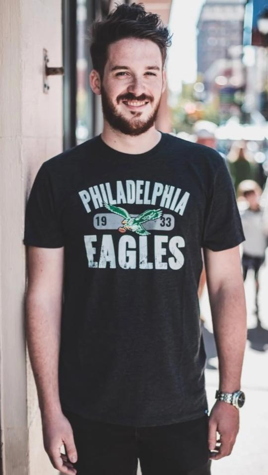 Philadelphia Eagles Milestone Match Men's tee Jet black