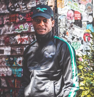 Philadelphia Eagles Vintage Black Track Jacket