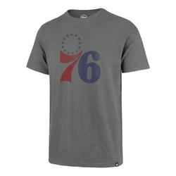 Philadelphia 76ers Grit Scrum Wolf Grey Mens Tee
