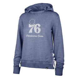 Philadelphia 76ers Women's Sideline Lace Pullover Royal Hoodie