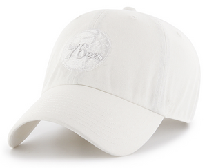 Philadelphia 76ers White Tonal Clean Up Logo Hat