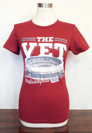 Veterans Stadium T-Shirt - Maroon - Women's