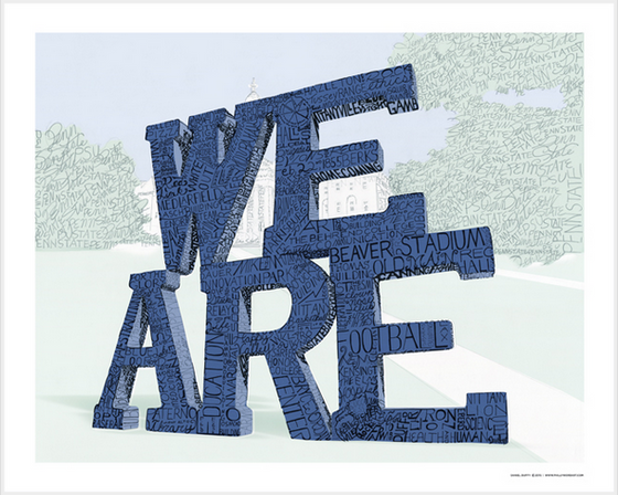 We Are Penn State Print by Philly Word Art