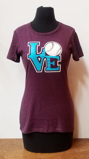 Love Women's Baseball tee