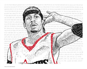 Allen Iverson 2000-2001 MVP by Philly Word Art