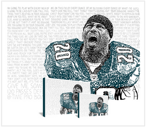 "Philadelphia Eagles Brian Dawkins ""The Wolverine"" by Philly Word Art"