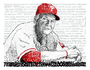 Phillies Charlie Manual Print by Philly Word Art