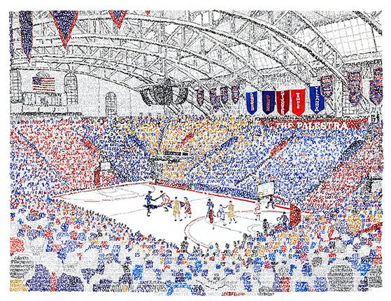 Palestra 60 Years of Big 5 Basketball Print by Philly Word Art