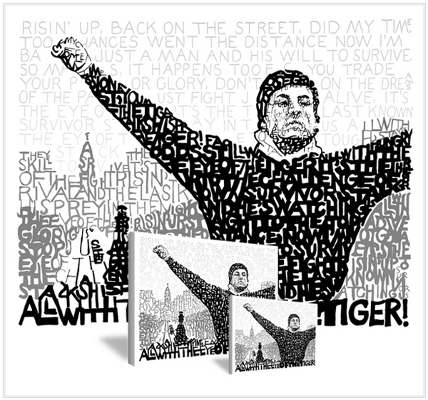 "Rocky ""Eye of the Tiger"" Print by Philly Word Art"