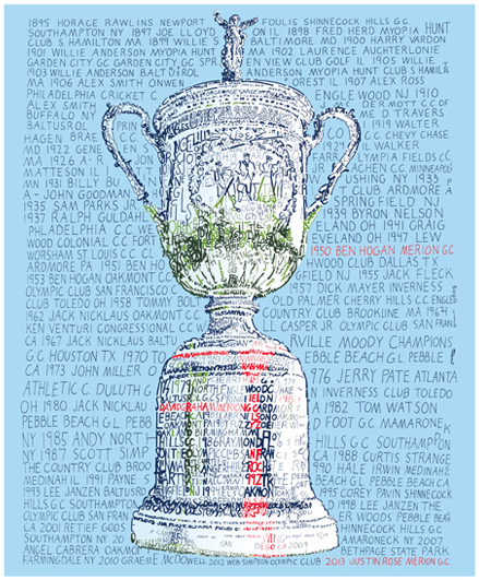 US Open of Golf Print by Philly Word Art