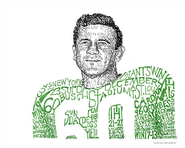 "Chuck ""Concrete Charlie"" Bednarik Print by Philly Word Art"