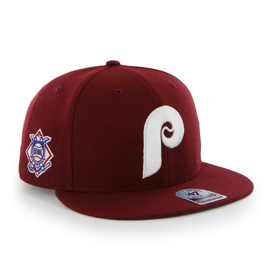 "Phillies ""Sure Shot"" Cardinal Red Snapback hat"