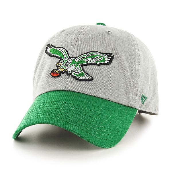 Philadelphia Eagles Two Tone Gray Cleanup hat with Vintage Logo