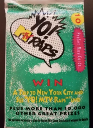 Yo! MTV Rap Cards Pack - $3