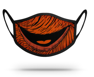 Orange Mouth Face Mask