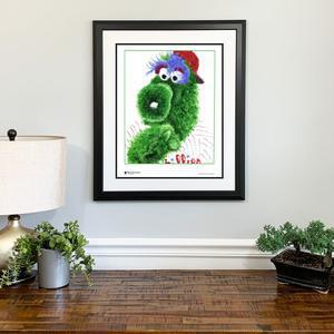 Phillie Phanatic Stamp Portrait by Philly Word Art