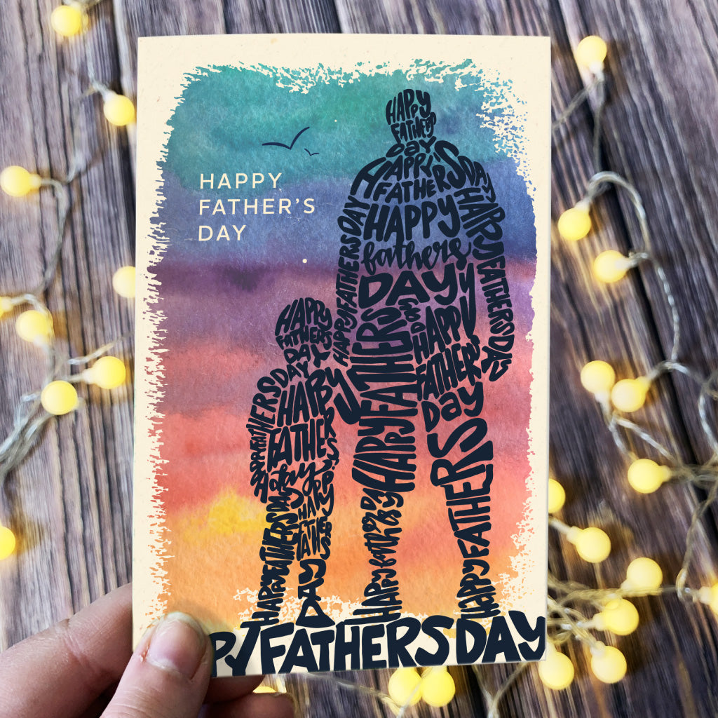 2021 Word Art Father's Day Card