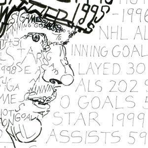 Eric Lindros Print by Philly Word Art